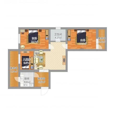 福山里3室1厅1卫1厨115.00㎡户型图