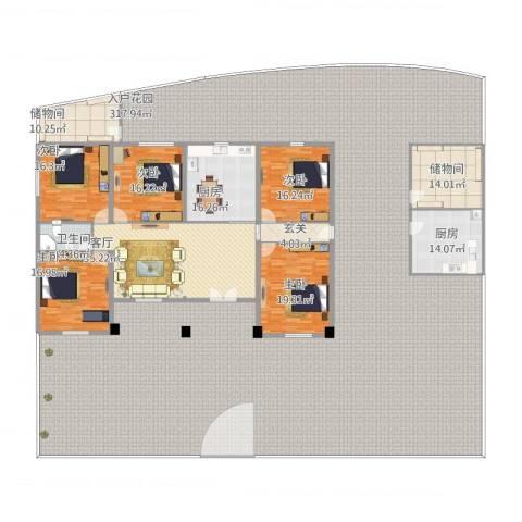 丰华名都5室1厅1卫2厨662.00㎡户型图