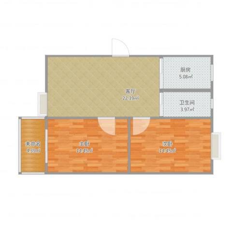 东景花园782室1厅1卫2厨87.00㎡户型图