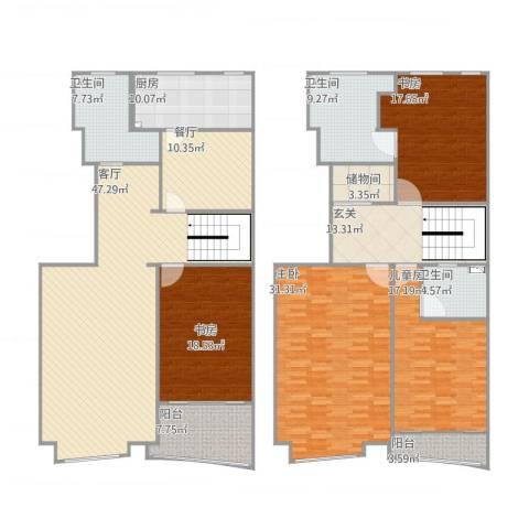 润欣花园4室2厅3卫1厨270.00㎡户型图
