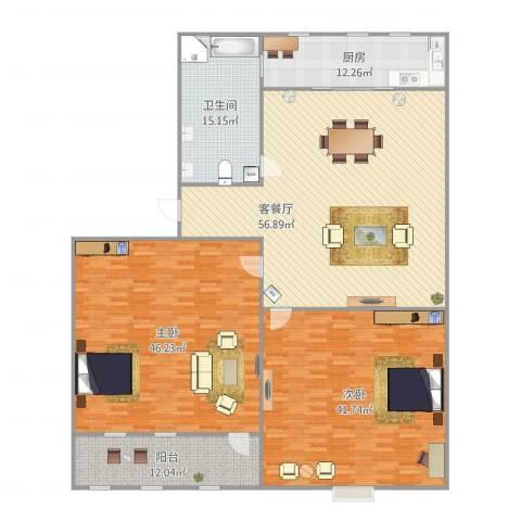 制锦市小区2室1厅1卫1厨241.00㎡户型图