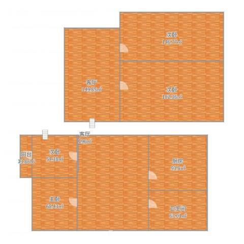 三元二村4室2厅1卫1厨1243.00㎡户型图