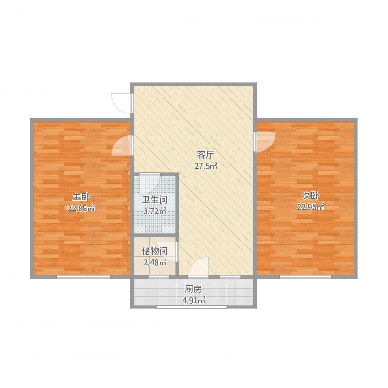 铁路33宿舍2室户型图