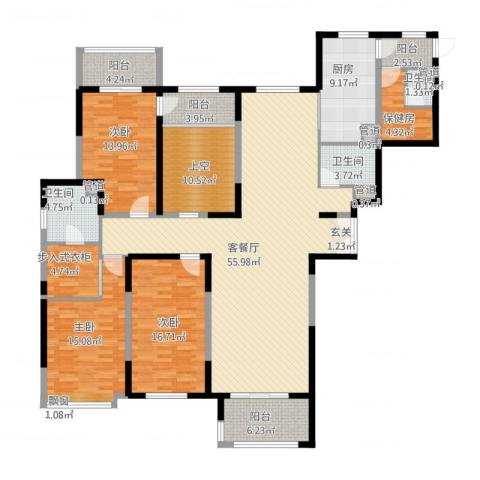 天都首郡3室1厅3卫1厨226.00㎡户型图