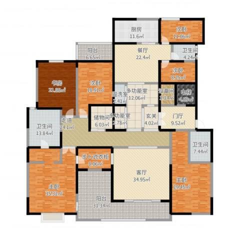 自在山6室3厅3卫1厨476.00㎡户型图