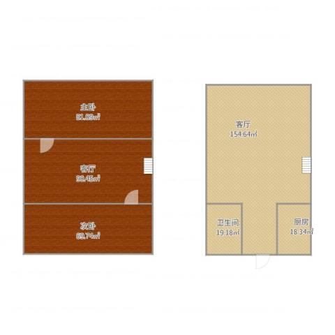合景睿峰2室2厅1卫1厨558.00㎡户型图