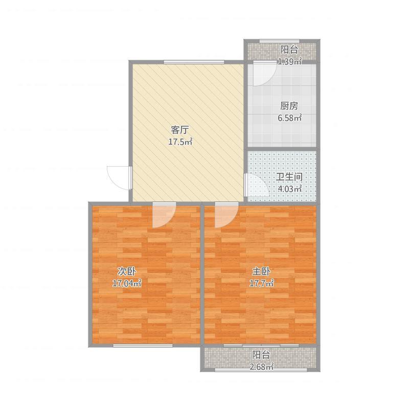 技术监督局宿舍2室户型图60