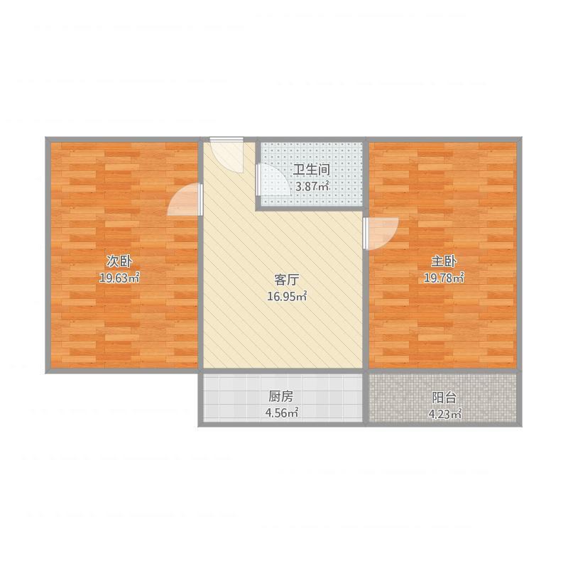 河纺南院2室户型图