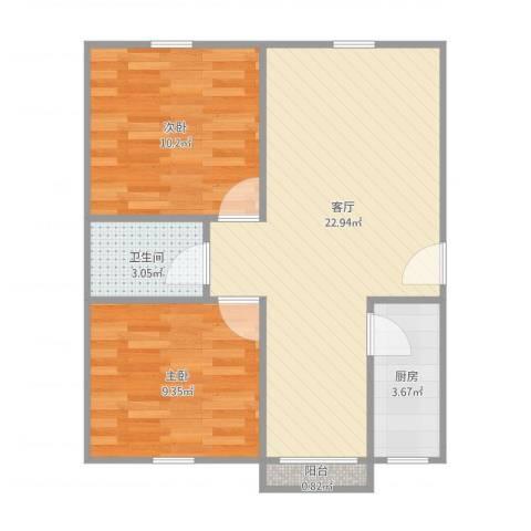 鼎鑫名流苑12号5012室1厅1卫1厨68.00㎡户型图