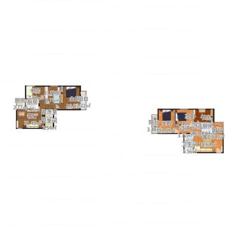 黄寺大街24号院6室3厅2卫3厨195.00㎡户型图