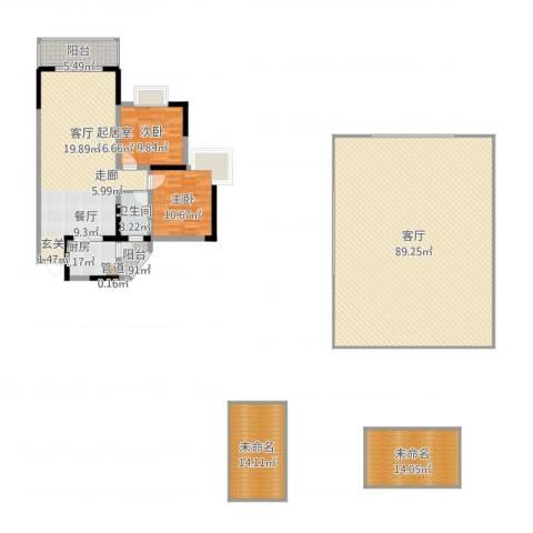 金辉融侨半岛云满庭B区2室1厅1卫1厨255.00㎡户型图