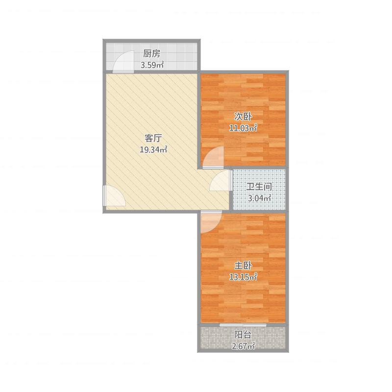 河纺南院2室户型图76