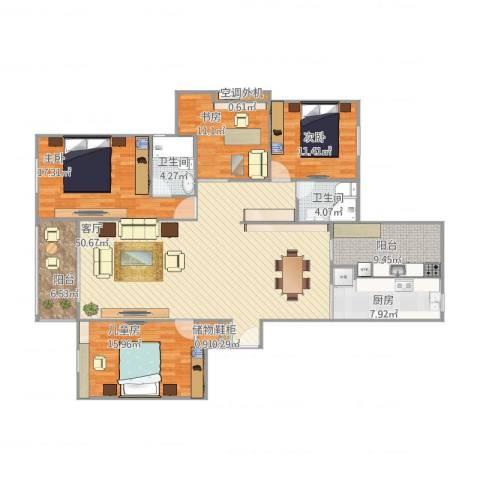 盛世天城二期4室1厅2卫1厨189.00㎡户型图