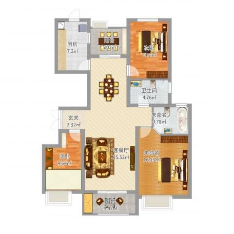 安阳万达广场2室1厅1卫1厨143.00㎡户型图