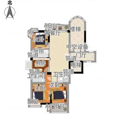 香江世纪名城户型图4室2厅2卫1厨-副本