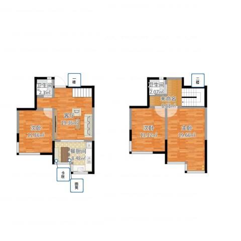 泰安盛世郡3室1厅2卫1厨127.00㎡户型图