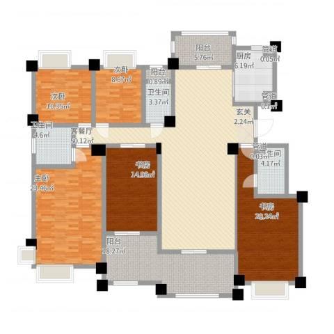 安阳碧桂园5室1厅3卫1厨246.00㎡户型图