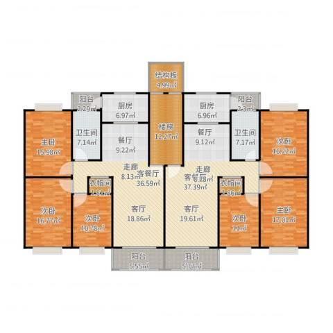 金都花好悦园五期6室2厅2卫2厨304.00㎡户型图