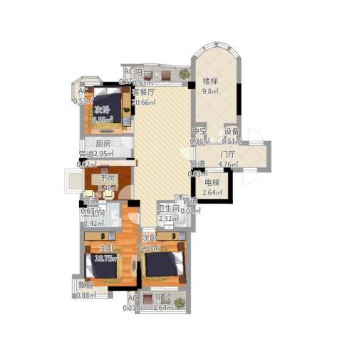 香江世纪名城4室1厅2卫1厨123.00㎡户型图