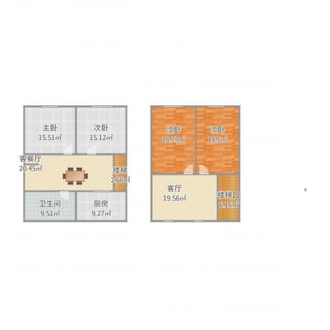 长江花园4室2厅1卫1厨181.00㎡户型图