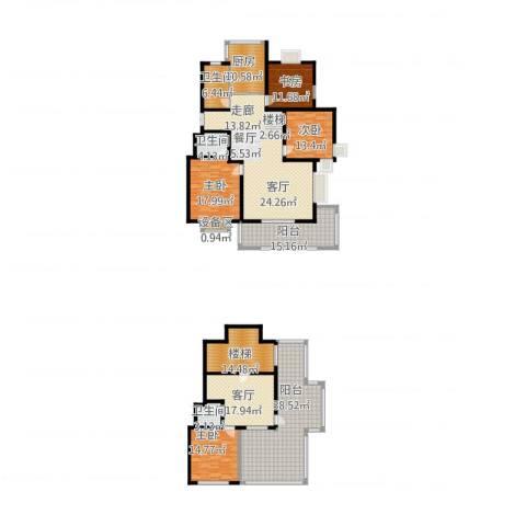 四季阳光花园4室2厅3卫1厨304.00㎡户型图