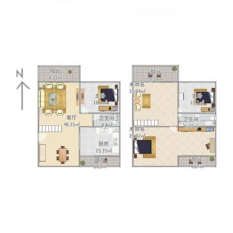 航空别墅2室1厅2卫1厨262.00㎡户型图