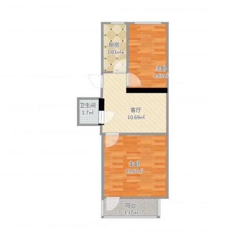 农光南路2室1厅1卫1厨59.00㎡户型图