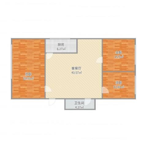 南平花园3室1厅1卫1厨147.00㎡户型图