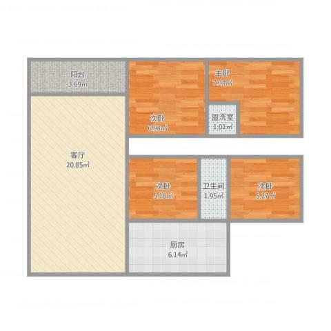 佳居花园4室2厅1卫1厨79.00㎡户型图