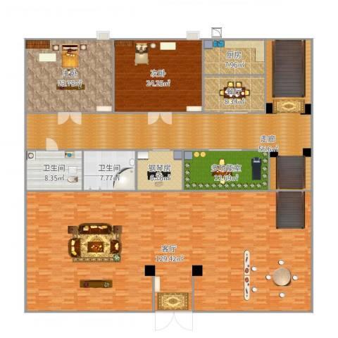 惠州半山名苑2室2厅2卫1厨377.00㎡户型图