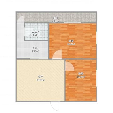 豪兴苑6022室1厅1卫1厨106.00㎡户型图