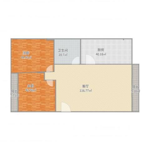 怡乐居2室1厅1卫1厨293.23㎡户型图