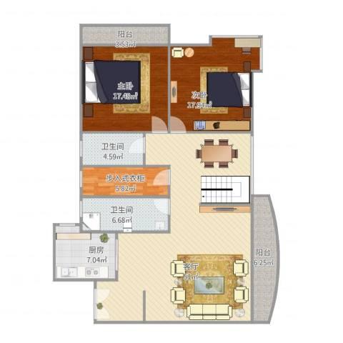源昌大厦2室1厅2卫1厨162.00㎡户型图