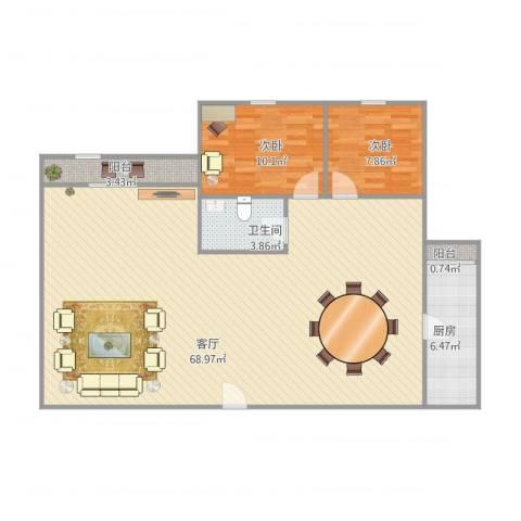新加坡园景苑5-31032室1厅1卫1厨134.00㎡户型图