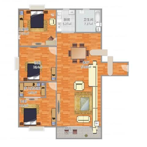 碧桂园别墅3室1厅1卫1厨173.00㎡户型图