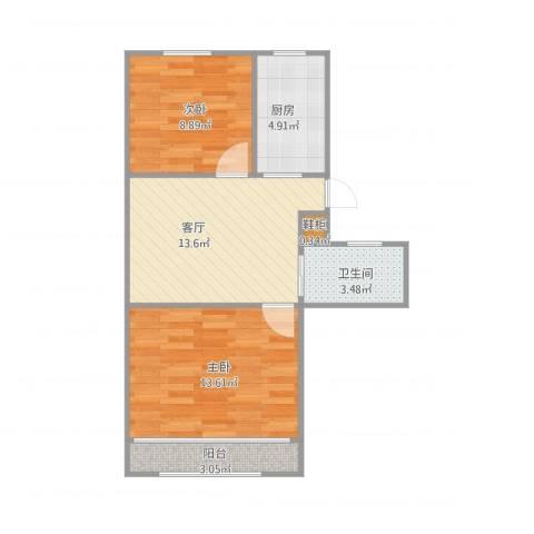 桃林一小区12号4022室1厅1卫1厨65.00㎡户型图