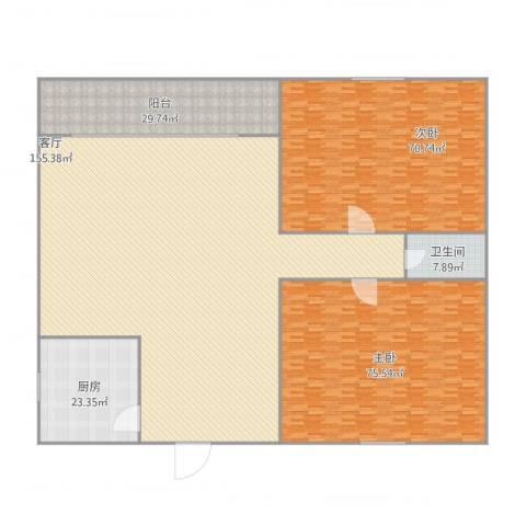松南路小区2室1厅1卫1厨468.00㎡户型图