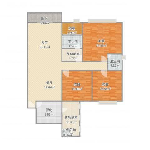 东建世纪广场北区6023室1厅2卫1厨202.00㎡户型图