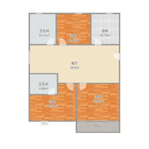 商宝公寓2号6033室1厅2卫1厨165.00㎡户型图
