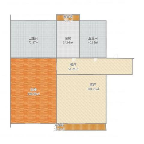 爱国里1室2厅2卫1厨573.00㎡户型图