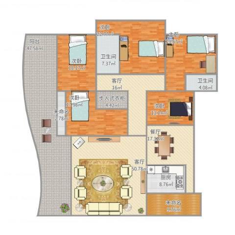 滨海御庭5室3厅2卫1厨346.00㎡户型图