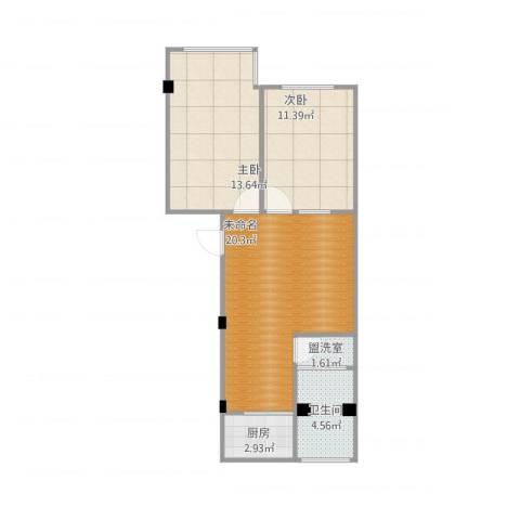 凤凰花园(近乎标准)2室1厅1卫1厨73.00㎡户型图
