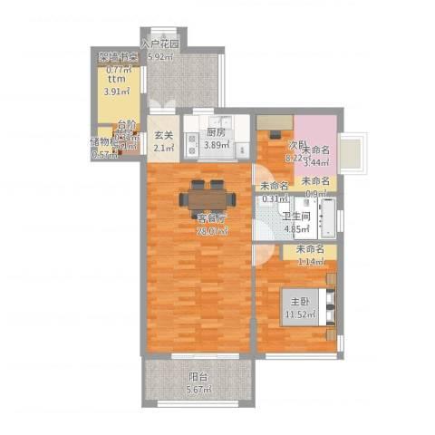 北湖星城五期3室1厅1卫1厨105.00㎡户型图