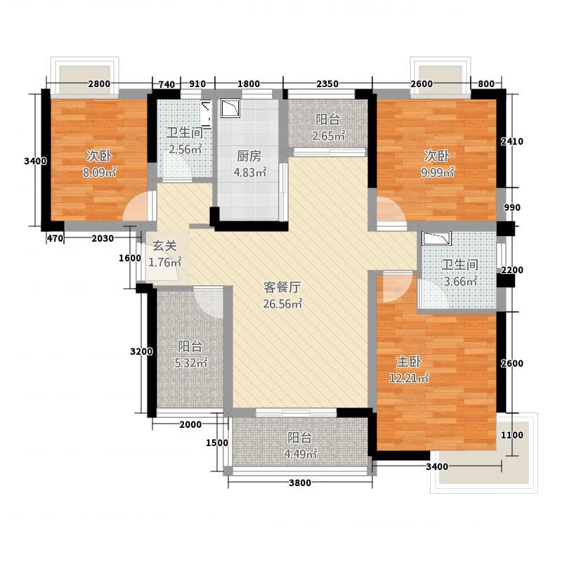 广州万达文化旅游城雪域澜庭D3型