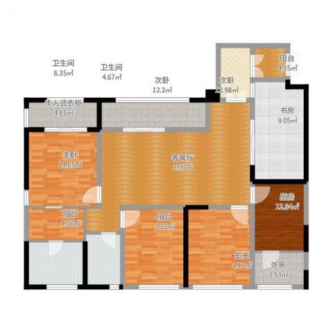 泰悦湾4室1厅2卫1厨195.00㎡户型图