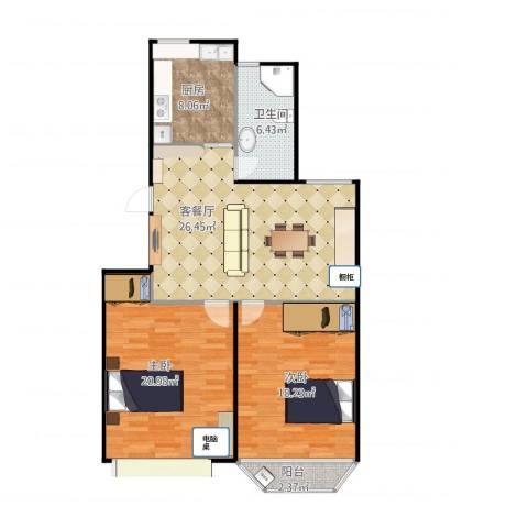 航星新村2室1厅1卫1厨110.00㎡户型图
