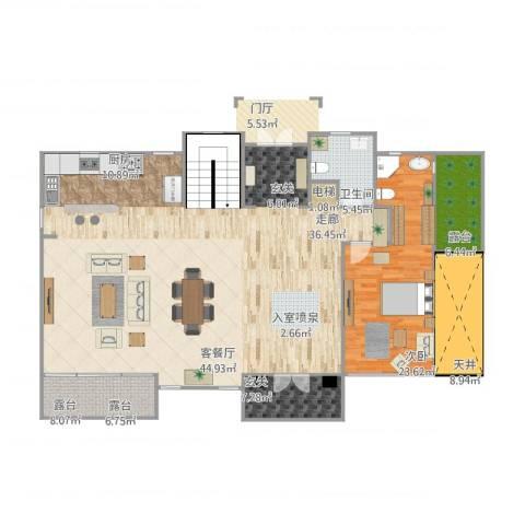 东郊罗兰别墅1室1厅1卫1厨198.00㎡户型图