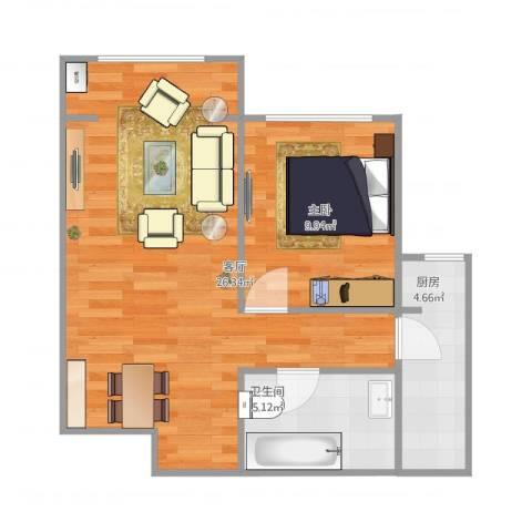 上庄馨瑞嘉园1室1厅1卫1厨62.00㎡户型图