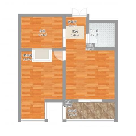 天人名仕乐居1室1厅4卫1厨72.00㎡户型图