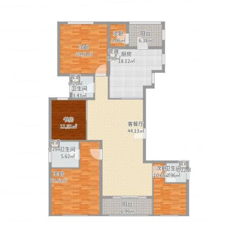 嘉天汇5室1厅3卫1厨220.00㎡户型图